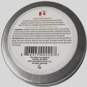 Mending Salve (Healing Salve) Bee Propolis and Tea Tree Oil. Natural ingredients-2 oz tin Salve- Red Headed Honey