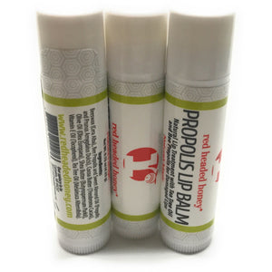 Propolis Lip Care-Healing and Hydration from Nature's Antibiotic, Bee Propolis Lip Balm- Red Headed Honey