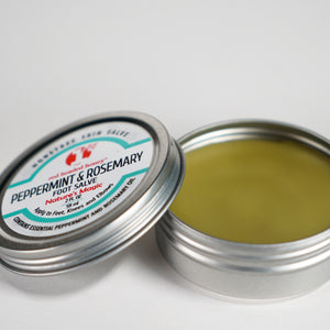 Peppermint & Rosemary Foot Salve with Beeswax-2 oz Tin Salve- Red Headed Honey