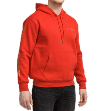 Load image into Gallery viewer, Hoodie red with gold
