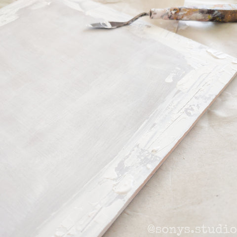 Create textures with a thick gesso