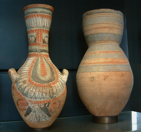 vases with lotus motif from ancient eqypt