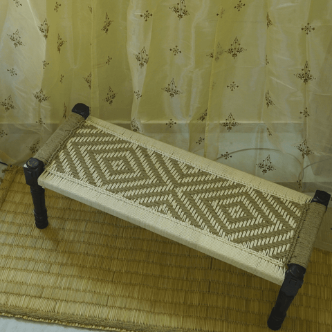 Wooden Charpai / Traditional Wooden Bench (Jute)