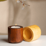 Venu Wooden Diyas (set of 2)