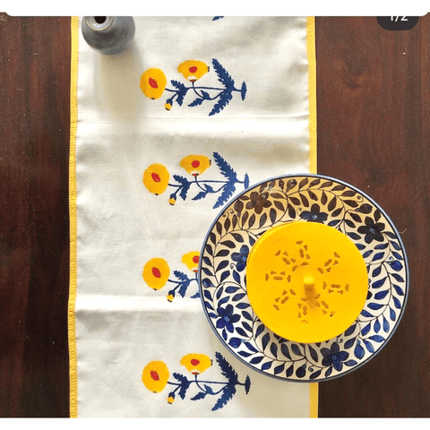 Eashanee Table Runner ~ Inspired by floral Mughal prints