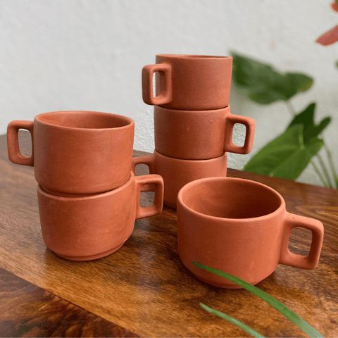 clay coffee cups