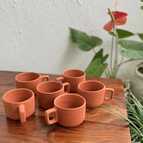 Earthenware Coffee Cups (set of 6) - Kulture Street