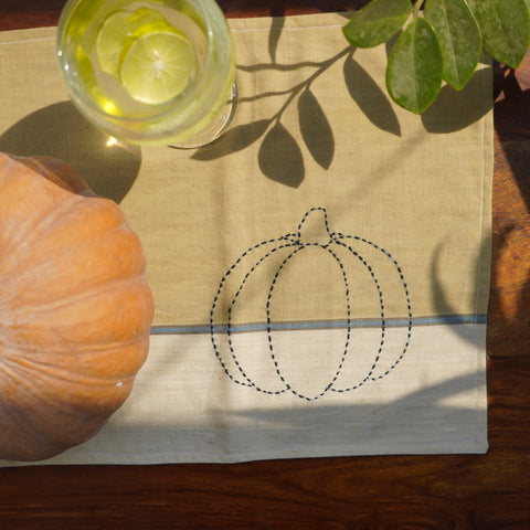 Pumpkin - Table Mat handcrafted by Oka - Kulture Street