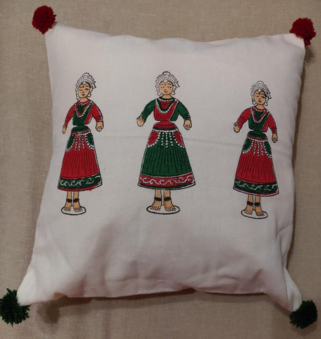 Tanjavur Doll ~ Cushion Cover