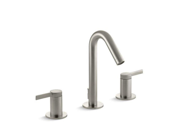 KOHLER 942-4-BN Stillness Widespread Bathroom Sink Faucet in Vibrant Brushed Nickel