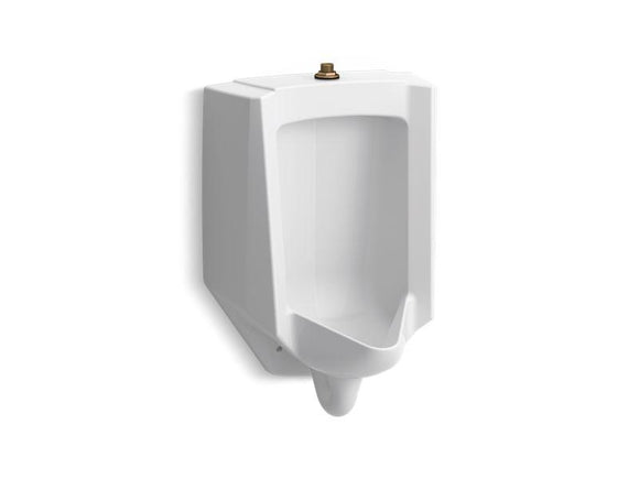 KOHLER 4991-ETSS-0 Bardon High-Efficiency Urinal (Heu), Washdown, Wall-Hung, 0.125 Gpf To 1.0 Gpf, Top Spud, Antimicrobial in White