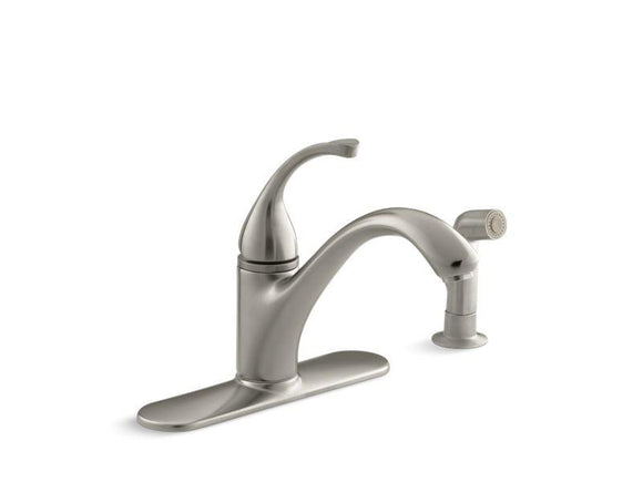 KOHLER 10412-BN Forté 4-Hole Kitchen Sink Faucet With 9-1/16