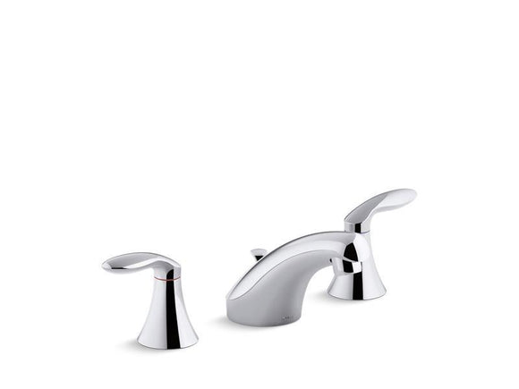 KOHLER 15261-4RA-CP Coralais Widespread Bathroom Sink Faucet With Lever Handles, Pop-Up Drain And Lift Rod in Polished Chrome