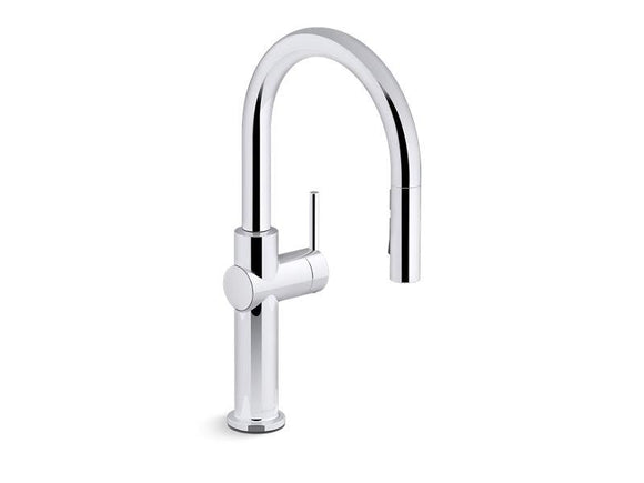 KOHLER 22972-CP Crue Pull-Down Single-Handle Kitchen Faucet in Polished Chrome