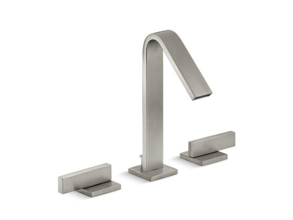 KOHLER 14661-4-BN Loure Widespread Bathroom Sink Faucet in Vibrant Brushed Nickel