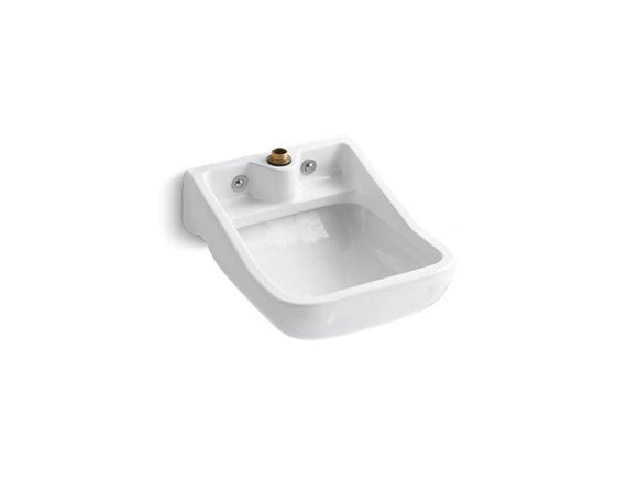 KOHLER 12867-0 Camerton Wall-Mounted Blow-Out Service Sink in White