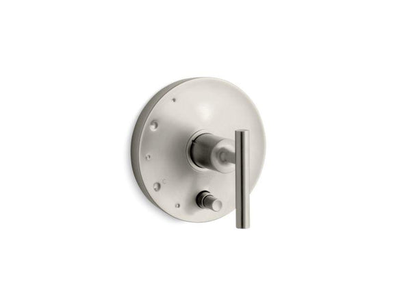 KOHLER T14501-4-BN Purist Rite-Temp Pressure-Balancing Valve Trim With Lever Handles, Valve Not Included in Vibrant Brushed Nickel