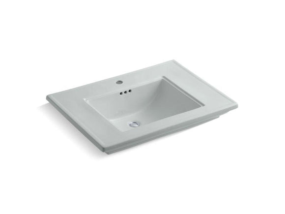 KOHLER 2269-1-95 Memoirs Stately Pedestal/Console Table Bathroom Sink Basin With Single Faucet-Hole Drilling in Ice Grey