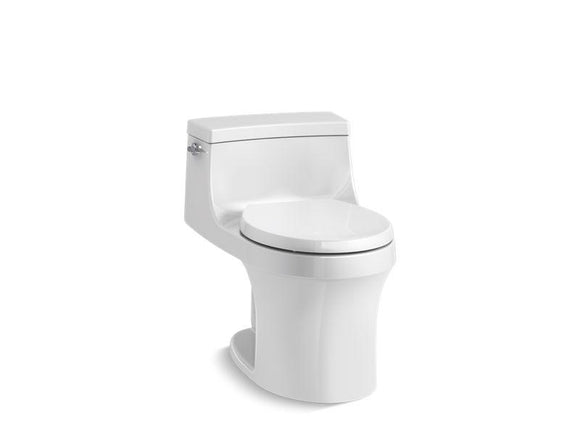 KOHLER 4007-0 San Souci One-Piece Round-Front 1.28 Gpf Toilet With Slow Close Seat in White