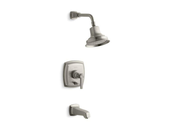 KOHLER T16233-4-BN Margaux Rite-Temp(R) Pressure-Balancing Bath And Shower Faucet Trim With Push-Button Diverter And Lever Handle, Valve Not Included in Vibrant Brushed Nickel