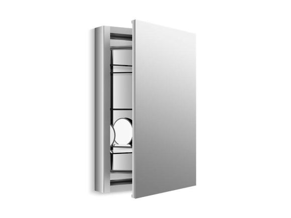 KOHLER 99003-SCF-NA Verdera Aluminum Medicine Cabinet With Adjustable Flip-Out Flat Mirror, 20