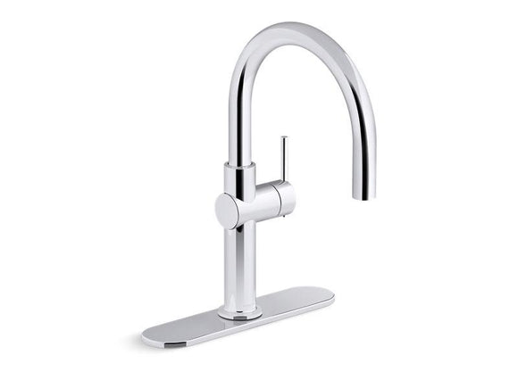 KOHLER 22975-CP Crue Single-Handle Bar Sink Faucet in Polished Chrome