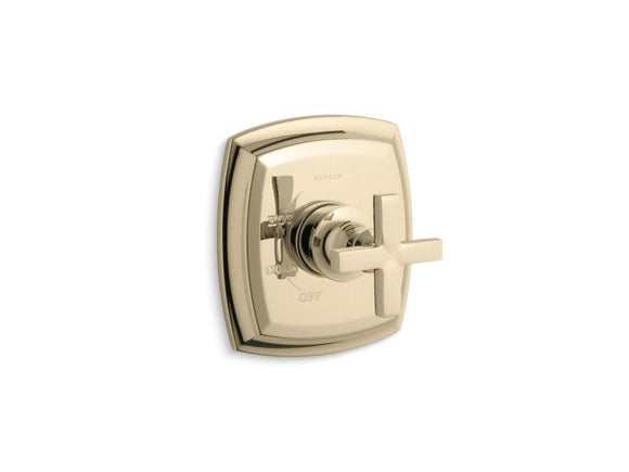 KOHLER TS16235-3-AF Margaux Rite-Temp(R) Valve Trim With Cross Handle in Vibrant French Gold