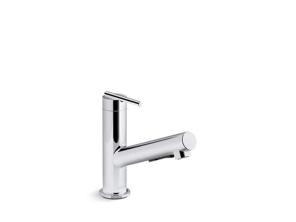 KOHLER 22976-CP Crue Pull-Out Single-Handle Kitchen Faucet in Polished Chrome