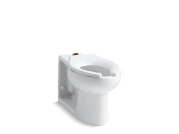 KOHLER 4386-0 Anglesey Floor-Mounted Top Spud Flushometer Bowl in White