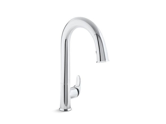 KOHLER 72218-B7-CP Sensate Touchless Kitchen Faucet With Black Accents, 15-1/2
