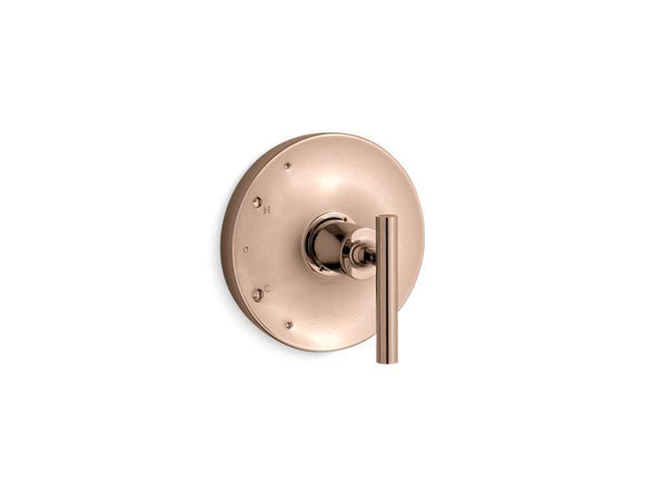 KOHLER TS14423-4-RGD Purist Rite-Temp(R) Valve Trim With Lever Handle in Vibrant Rose Gold