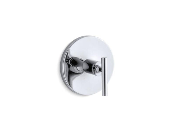 KOHLER T14488-4-CP Purist Valve Trim With Lever Handle For Thermostatic Valve, Requires Valve in Polished Chrome