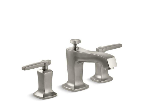 KOHLER 16232-4-BN Margaux Widespread Bathroom Sink Faucet With Lever Handles in Vibrant Brushed Nickel