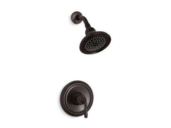 KOHLER TS396-4-2BZ Devonshire Rite-Temp Shower Trim With 2.5 Gpm Showerhead in Oil-Rubbed Bronze
