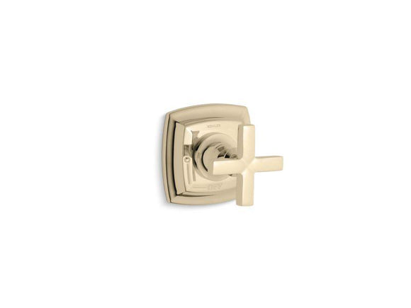 KOHLER T16241-3-AF Margaux Valve Trim With Cross Handle For Volume Control Valve, Requires Valve in Vibrant French Gold