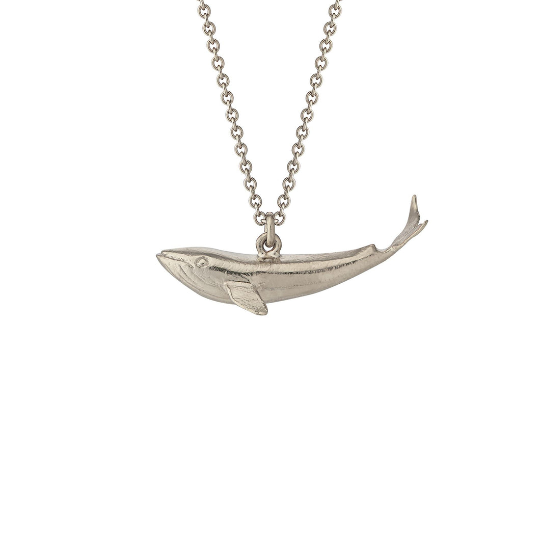 Alex Monroe Baby Blue Whale Silver Necklace