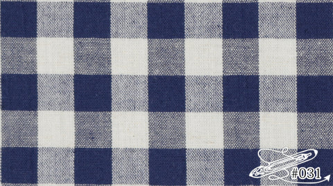 [MU5081-31] COTTON Y/D GINGHAM (COTTON LINEN RAMIE) 20/1 × C/L20/1 コットン麻ワッシャーポプリン