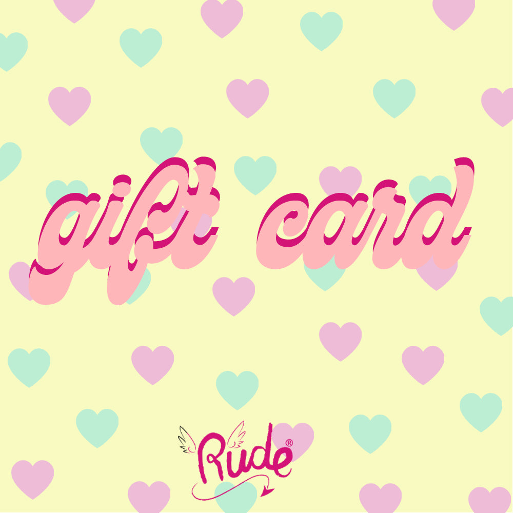 Gift card by Rude