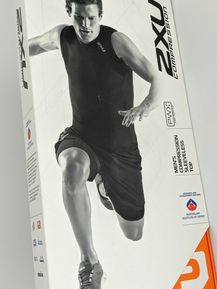 Load image into Gallery viewer, 2XU Men's Compression Sleeveless Shirt Beige