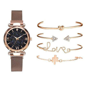 Women's Luxury Watch & Bracelet Set - Marys Little Mart