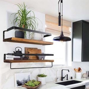 Modern Floating Wooden Wall Shelves - Marys Little Mart
