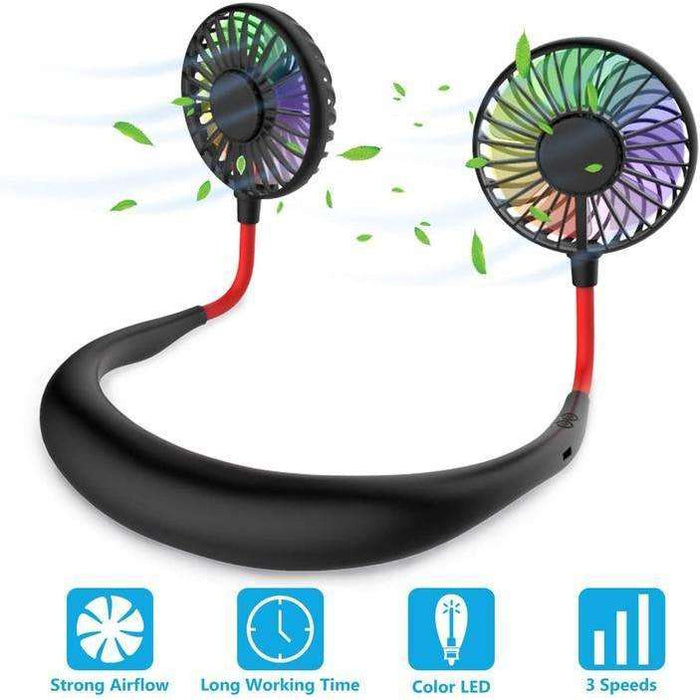 Portable Neck Fan With Lights