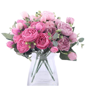 Silk Artificial Rose Bouquet - Marys Little Mart