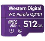 Western Digital 512GB WD Purple MicroSDXC Card for Surveillance Cameras
