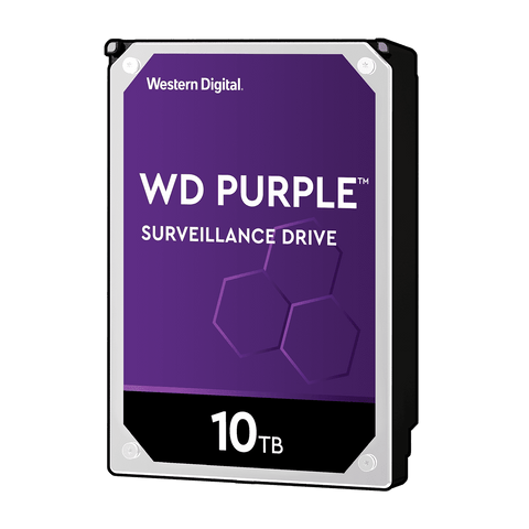 "WD 10TB Purple Surveillance 3.5"" IntelliPower SATA3 7200RPM HDD"