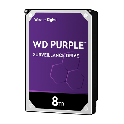 "WD 8TB Purple Surveillance 3.5"" IntelliPower SATA3 7200RPM HDD"