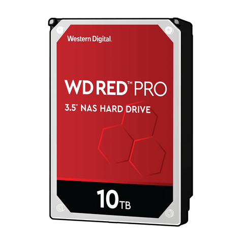 "WD 10TB Red Pro NAS 3.5"" 7200RPM SATA3 HDD"