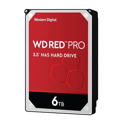 "WD 6TB Red Pro NAS 3.5"" 7200RPM SATA3 HDD"