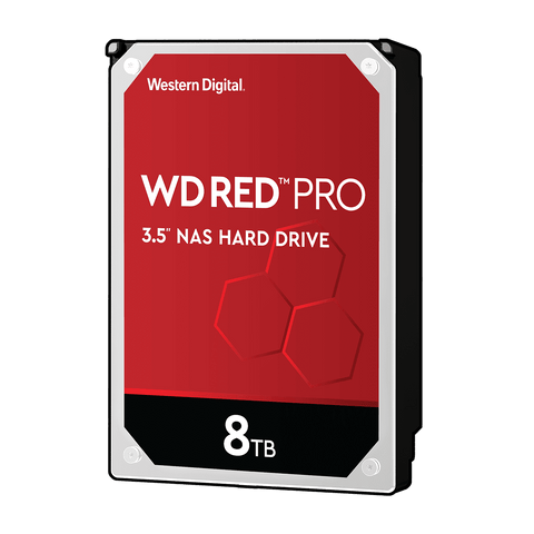 "WD 8TB Red Pro NAS 3.5"" 7200RPM SATA3 HDD"