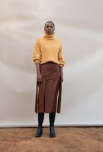 Load image into Gallery viewer, MMUSOMAXWELL MELANGE BOUCLE JUMPER MOHAIR VISCOSE WOOL GOLD